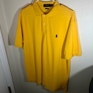 Polo by Ralph Lauren, Mens Size Large Polo Style Shirt, Classic Fit, Yellow